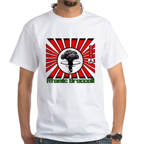 Robot King Atomic Broccoli White T-Shirt
