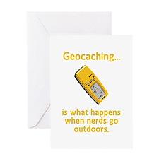 Geocaching Nerds Greeting Card