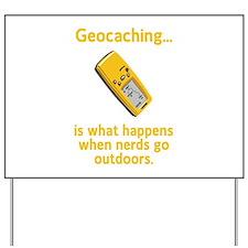 Geocaching Nerds Yard Sign