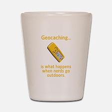 Geocaching Nerds Shot Glass