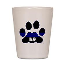 K9 Thin Blue Shot Glass