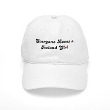 Loves Iceland Girl Baseball Cap