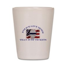 Police Give More Than Tickets Shot Glass