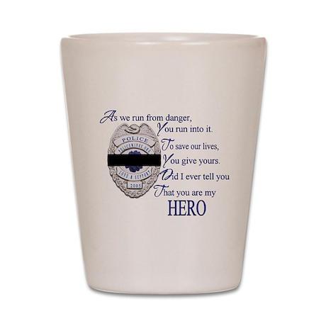 My Hero Shot Glass