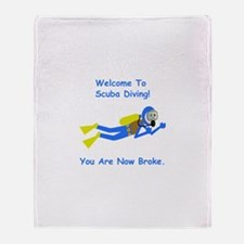 Welcome To Scuba Diving! Throw Blanket