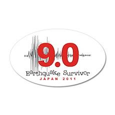 Japan Earthquake Survivor 22x14 Oval Wall Peel