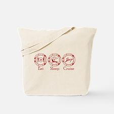 Eat Sleep Cruise Tote Bag