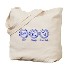Eat Sleep Snorkel Tote Bag