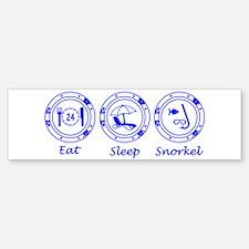Eat Sleep Snorkel Bumper Bumper Sticker