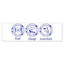 Eat Sleep Snorkel Bumper Sticker