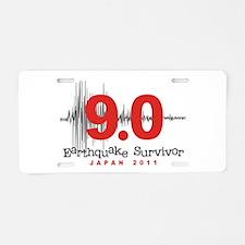 Japan Earthquake Survivor Aluminum License Plate