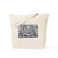 meditating skeleton Tote Bag