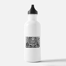 meditating skeleton Water Bottle