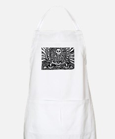 meditating skeleton Apron