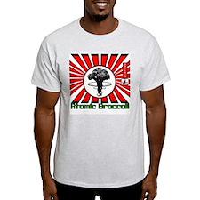 Robot King Atomic Broccoli Ash Grey T-Shirt