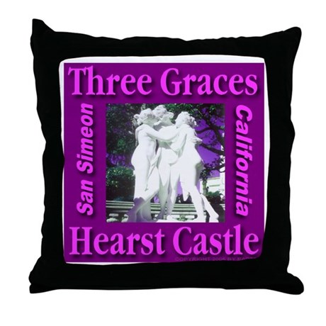 Three Graces Purple Passion Throw Pillow