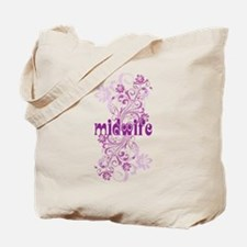 Midwife Floral Swirl Tote Bag
