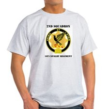 DUI - 2nd Sqdrn - 1st Cavalry Regt with Text T-Shirt