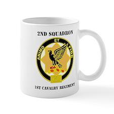 DUI - 2nd Sqdrn - 1st Cavalry Regt with Text Mug