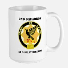 DUI - 2nd Sqdrn - 1st Cavalry Regt with Text Mug