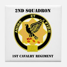 DUI - 2nd Sqdrn - 1st Cavalry Regt with Text Tile