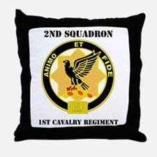 DUI - 2nd Sqdrn - 1st Cavalry Regt with Text Throw