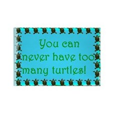 Turtle saying Rectangle Magnet
