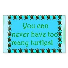 Turtle saying Rectangle Decal
