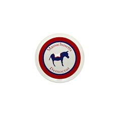 Massachusetts Democrat Political Pin