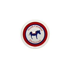 North Carolina Democrat political pin