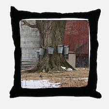 Maple Sap Time Throw Pillow