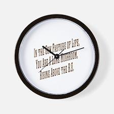 Funny B.s. Wall Clock