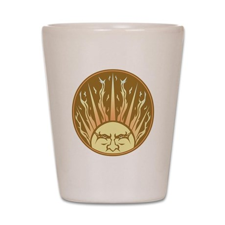 Flaming Sun Shot Glass