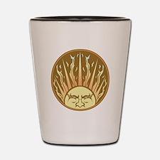 Flaming Sun Shot Glass