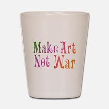 Make Art Not War Shot Glass