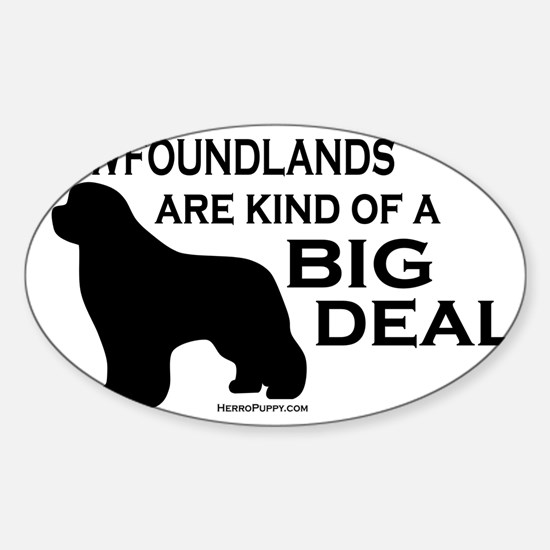 Big Deal Sticker (Oval)