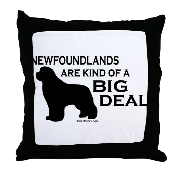 Throw Pillow Deals : Big Deal Throw Pillow by HerroPuppy