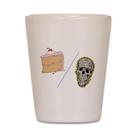 Cake or Death Shot Glass
