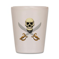 Pirate Skull and Swords Shot Glass