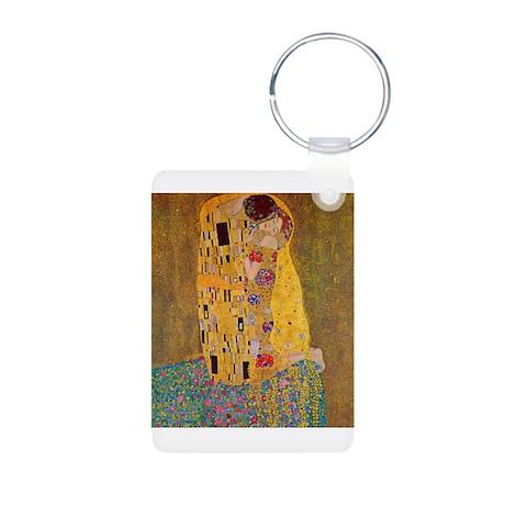 The Kiss by Klimt Aluminum Photo Keychain