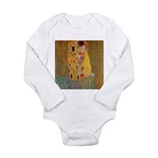 The Kiss by Klimt Long Sleeve Infant Bodysuit