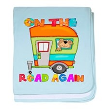 On the road again baby blanket