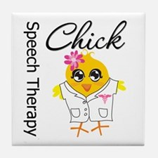 Speech Therapy Chick Tile Coaster