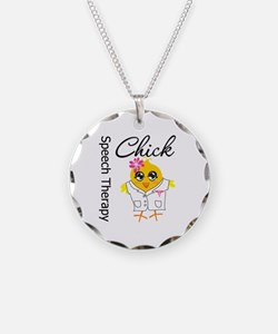 Speech Therapy Chick Necklace