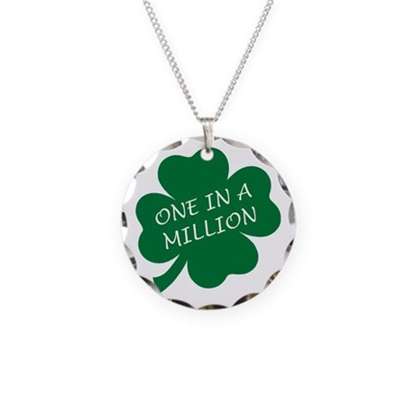 One in a Million Necklace Circle Charm
