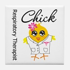Respiratory Therapist Chick Tile Coaster
