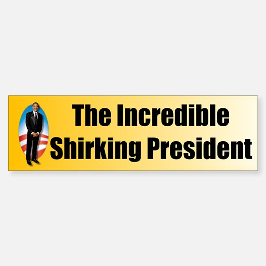 Obama - Shirker Sticker (Bumper)