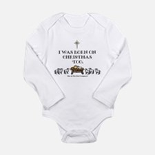 Born on Christmas Long Sleeve Infant Bodysuit