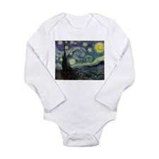 Starry Night Long Sleeve Infant Bodysuit
