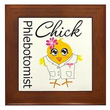 Phlebotomist Chick Framed Tile